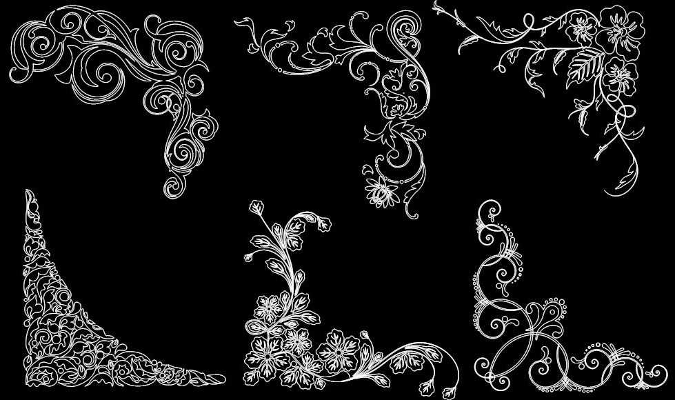 floral corner designs dxf file free download 3axis co floral corner designs dxf file free