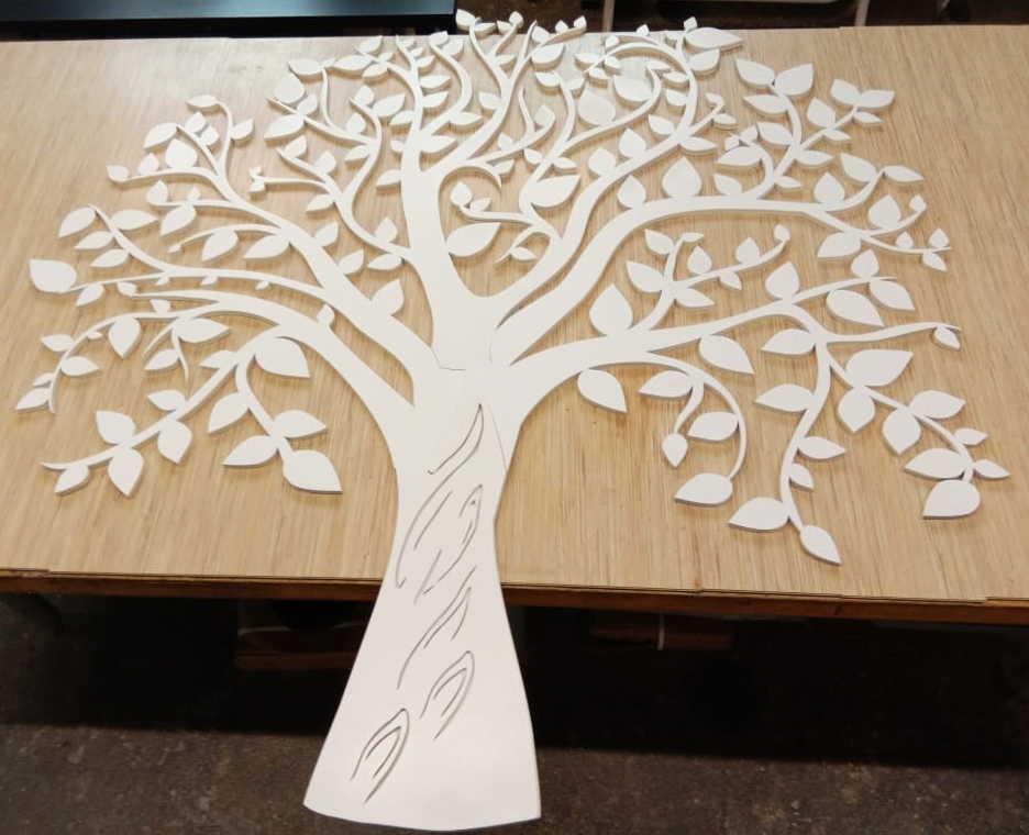 Laser Cut Tree Wall Decor Template Free Vector Cdr Download 3axis Co