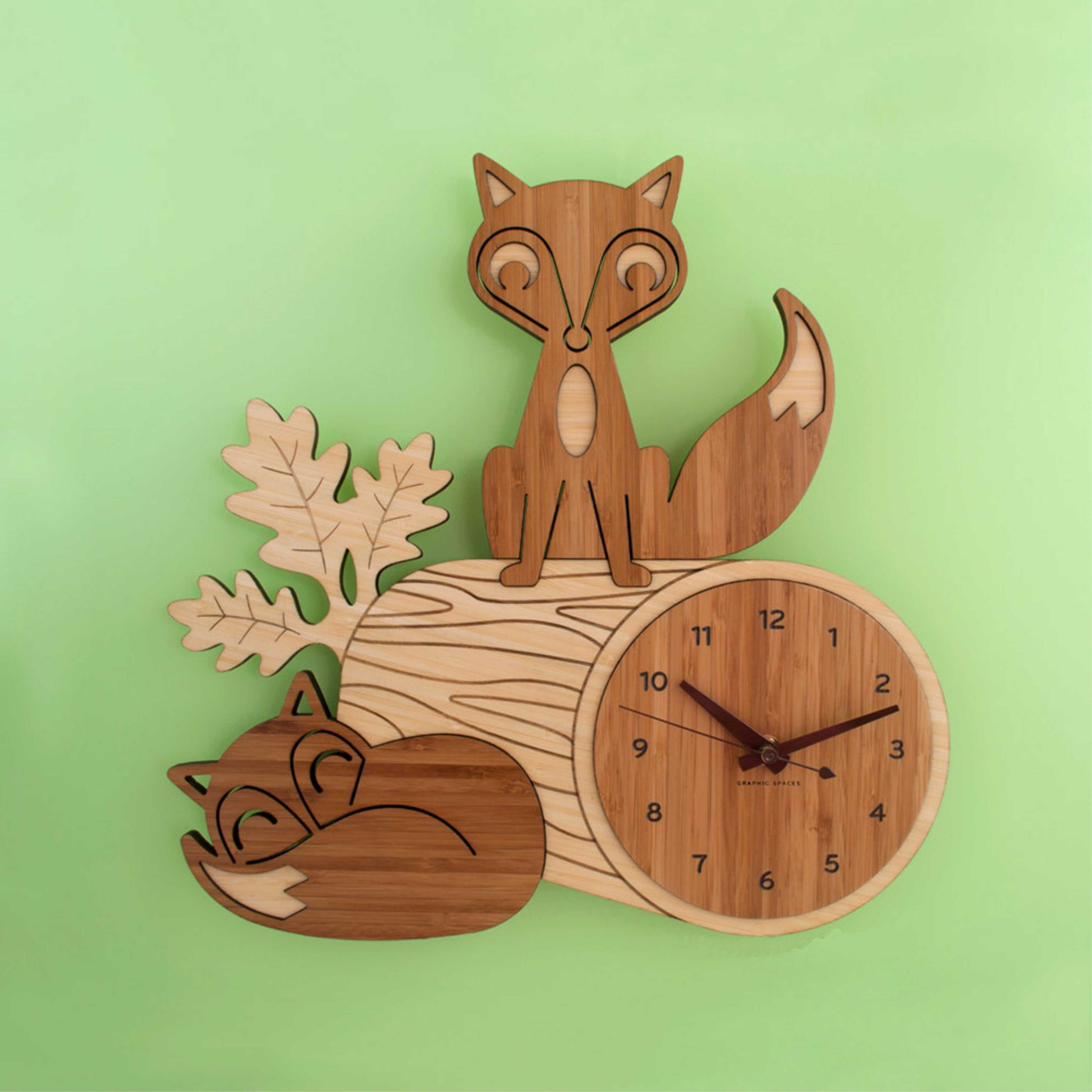 Laser Cut Clock With Fox Free Vector Cdr Download 3axis Co
