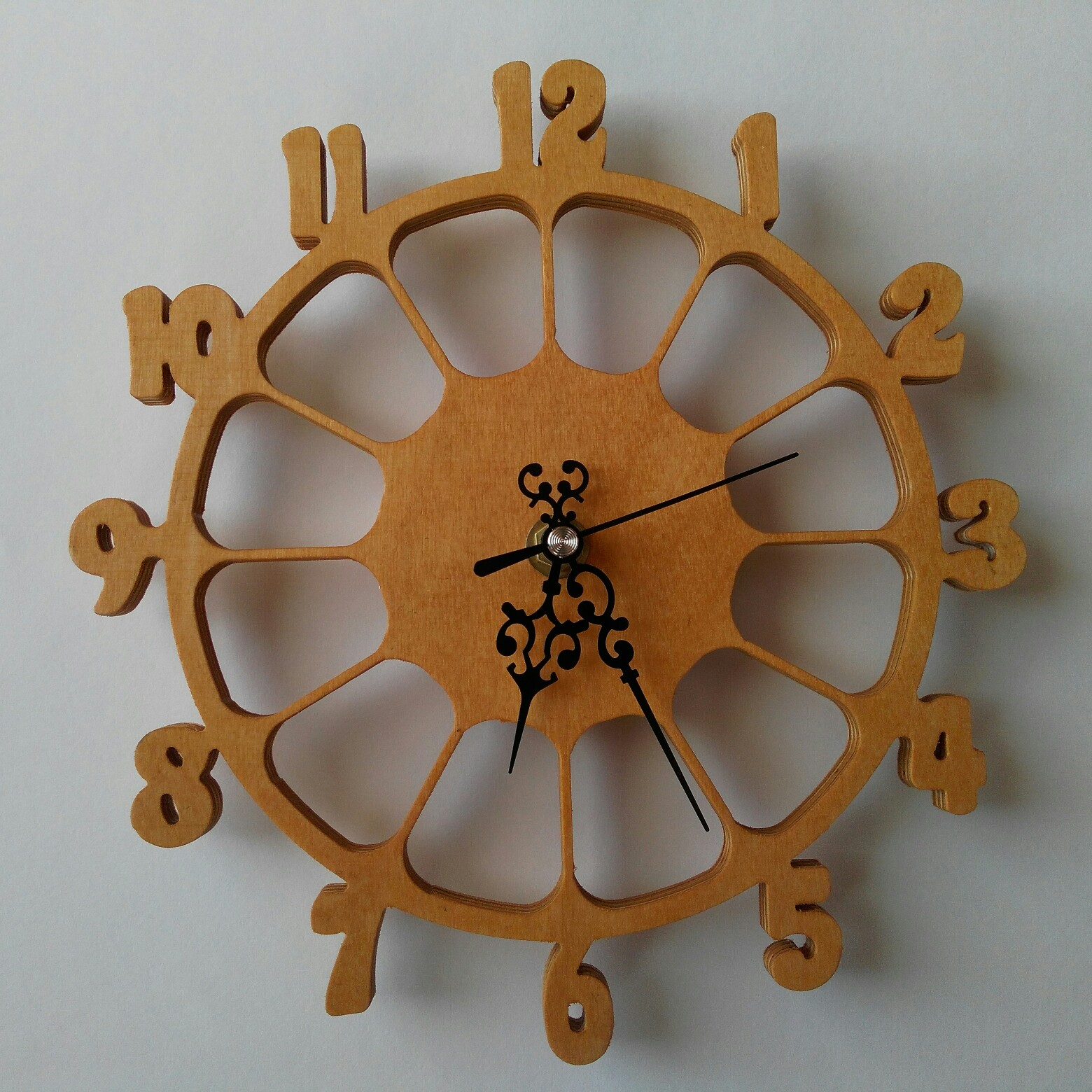 Laser Cut Wall Clock Cnc Template Dxf File Free Download 3axis Co
