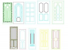 Panel Doors Design CDR File