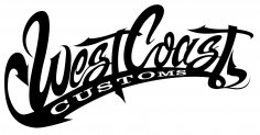 West Coast Customs Logo Vector CDR File