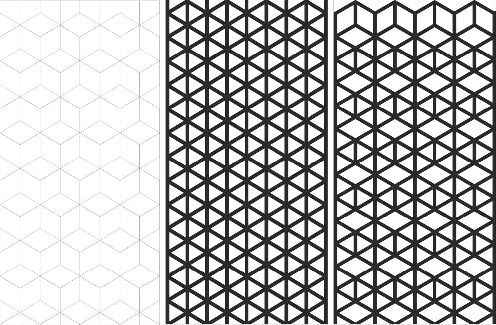 Seamless Abstract Line Pattern Vector Free Vector Cdr