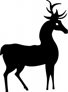 Deer Standing Silhouette Vector CDR File