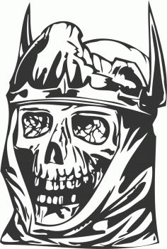 King Skull DXF File