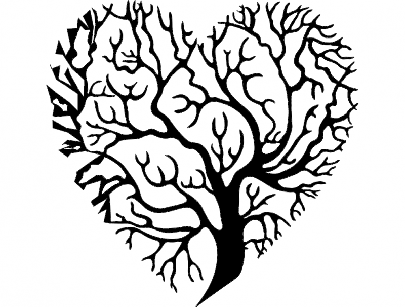 Tree Heart Dxf File Free Download 3axis Co