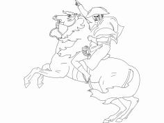 Cavalo E Soldado dxf File