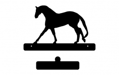 Horse With Plate dxf File