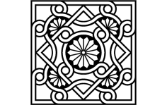 Byzantine Ornament  dxf File