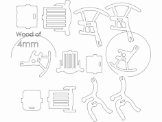 3d Chair dxf File