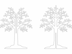 Arvore De 80cm dxf File