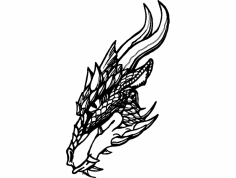cabeça De dragão dxf File