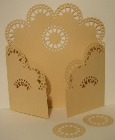 Gate Fold Card 15 dxf File