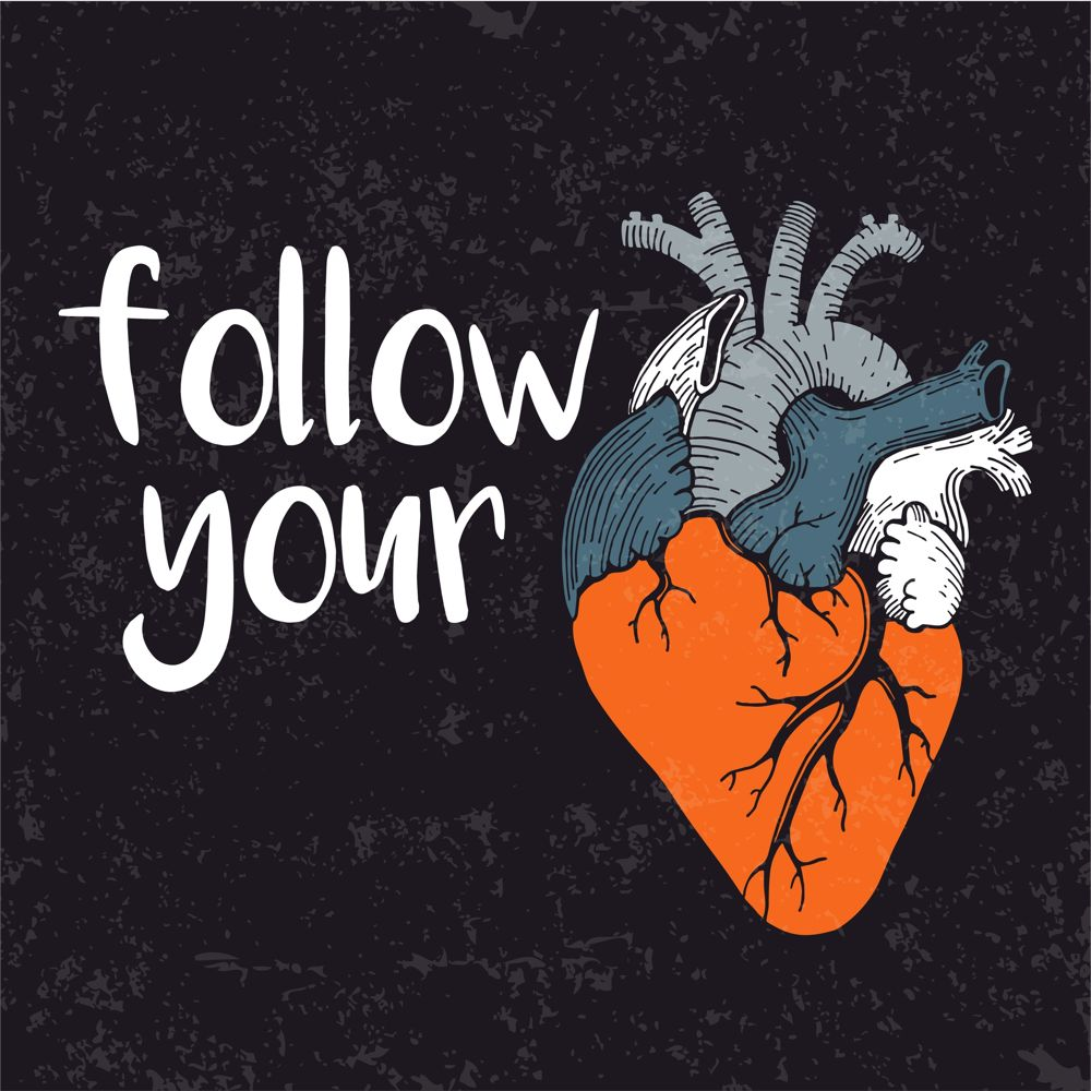 Follow Your Heart Print Coreldraw Vector ( cdr) file free download