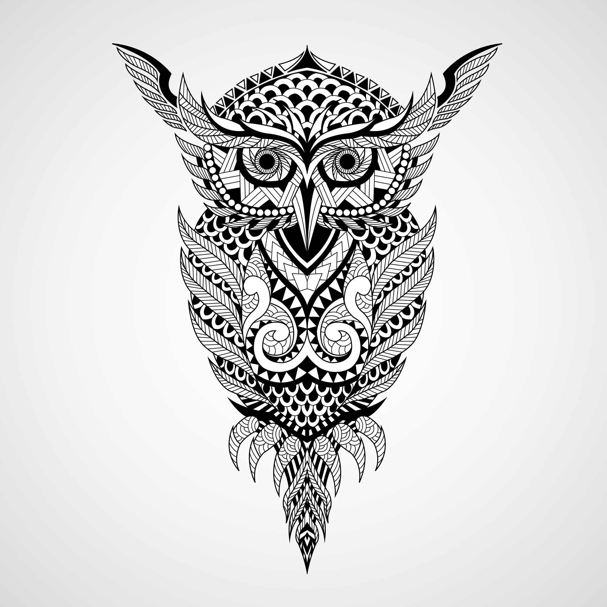 geometrical owl vector art coreldraw vector cdr file free rh 3axis co great horned owl vector art great horned owl vector art