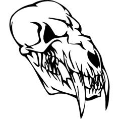 Skull 007 dxf File
