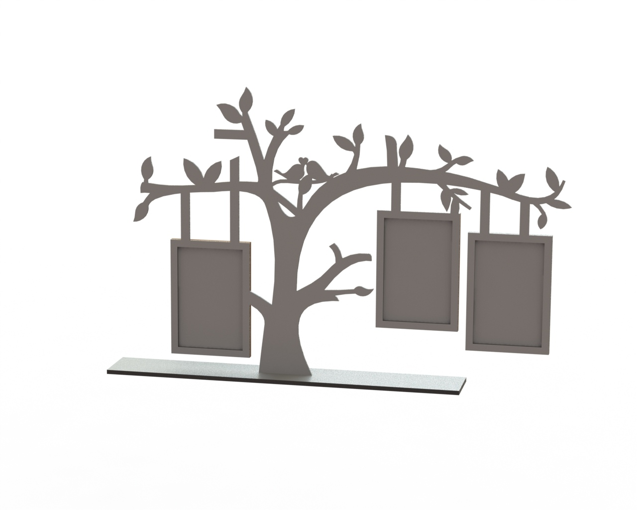 Tree Frame Laser Cut Free Vector cdr Download - 3axis.co