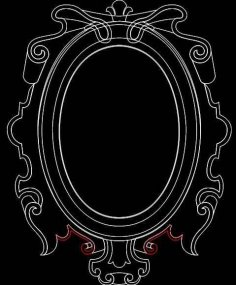Mirror Frame 0556 dxf File