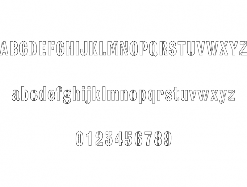 Army Stencil Font Dxf File Free Download 3axis Co