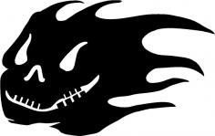 Skull Silhouette Horror dxf File