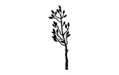 Plant Silhouette dxf File