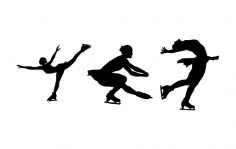 Figure Skaters dxf File