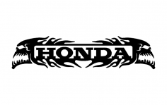 Honda Skulls dxf File