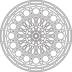 Mandala Des Round CDR File