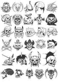 Skull vectors CDR File