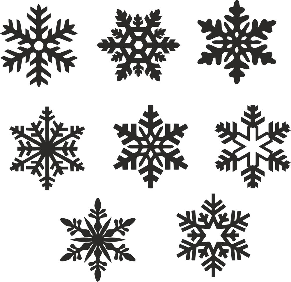 christmas snowflake icons set vector free vector cdr