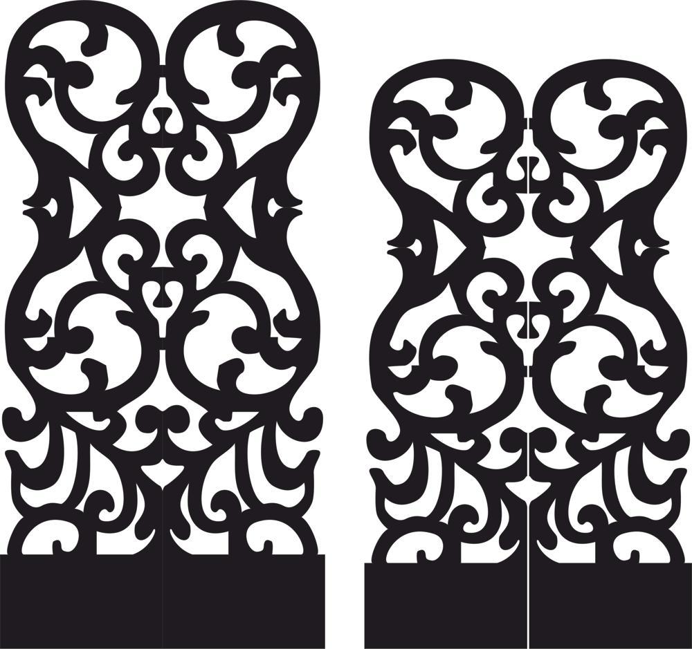 Stencil Folding Screen Vector Free Vector Cdr Download