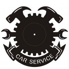 Clock Car Service dxf File