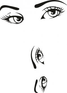 Woman Eyes Collection Vector CDR File