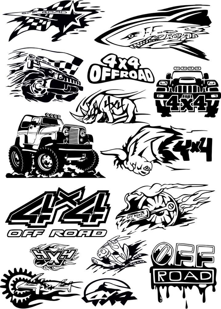 offroad vehicle vector art free vector cdr download