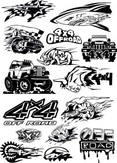 Off-road vehicle Vector Art CDR File