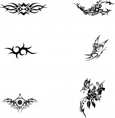 Black and white Tattoo Totem Vector CDR File
