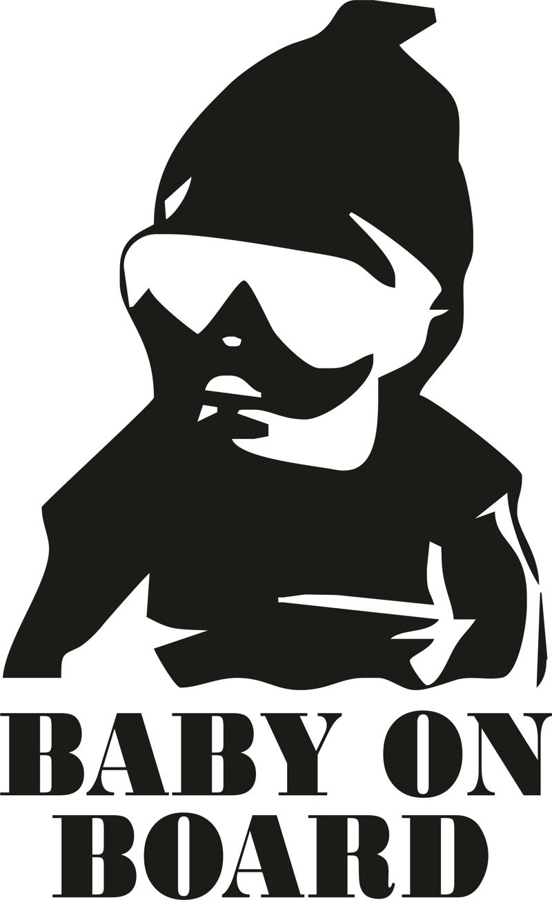 Baby On Board Car Sticker Free Vector Cdr Download
