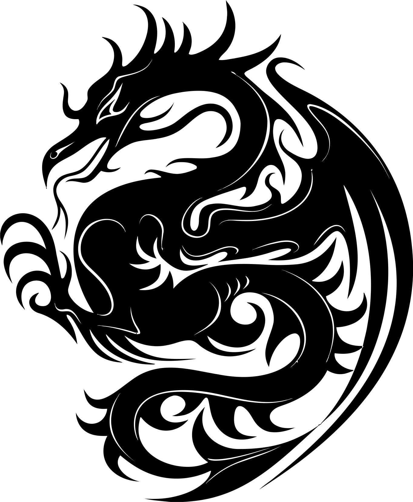 Dragon Stencil Vector CDR File