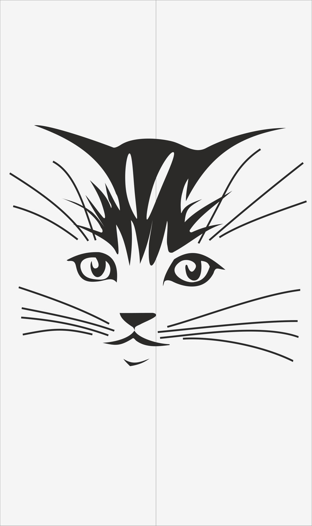 Cats Decal for Glass Vector CDR File