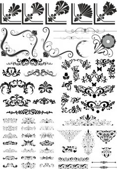 Abstract Floral Vector Elements Pack CDR File