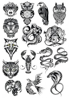 Animals Vector Art Set CDR File