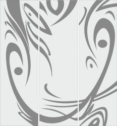 Carved sandblasted abstract design CDR File