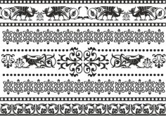 Celtic Patterns and Ornament Lace Patterns CDR File