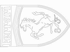 Ferrari Logo dxf File