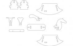 Rocking Horse puzzle dxf File