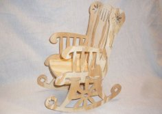 Rocking Chair Cnc Project 1-16 Inch Bit dxf File