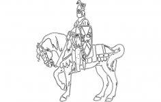 Knight On Horse dxf File