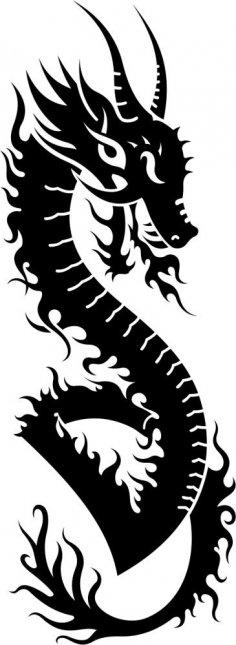 Dragon Vector Tatoo CDR File