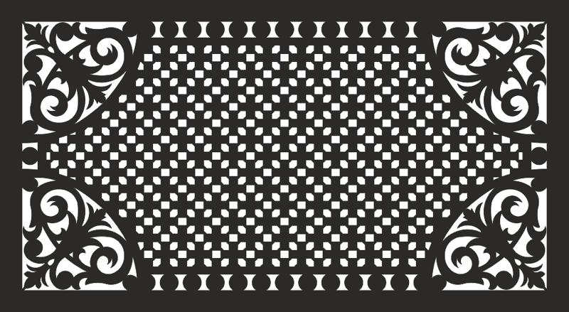 Abstract Curtain Panel Black