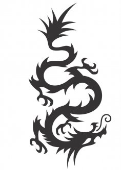 Chinese Dragon Silhouette Vector CDR File